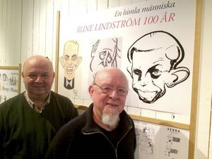 Jovica Marceta och Pelle Lindström ser framemot att visa många sidor av Rune Lindström på utställningen i Leksands kulturhus