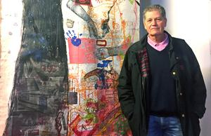 Björn Larsson, konstnären Pia Thelanders make.
