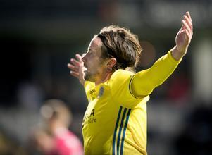 Linus Hallenius gjorde 3–0-målet i bortamatchen mot IFK Göteborg när GIF säkrade det allsvenska kontraktet. Bild: Björn Larsson Rosvall