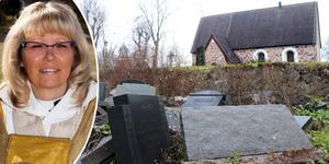 Helén Uddén, kyrkoherde i Roslagens västra pastorat, ber om ursäkt och lovar att se över situationen. Foto: Jonas foto i Roslagen