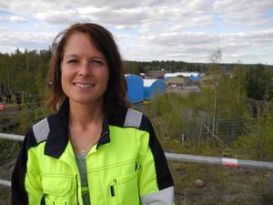 Jenny Gotthardsson är områdeschef  vid Bolidens gruva i Garpenberg. Efter att tornet fallit så var det både lättnad, glädje men också lite vemod, säger hon.