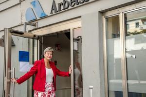 Arbetsmarknadsminister Ylva Johansson besökte  arbetsförmedlingen i Örebro.