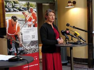 LO:s ordförande Susanna Gideonsson skriver tillsammans med Per Lilja, ordförande i LO-distriktet om de ekonomiska klyftorna i det svenska samhället. Foto: Niklas Svahn/TT