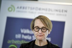 Arbetsförmedlingens analyschef Annika Sundén. Arkivbild.