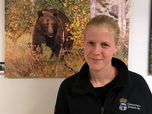 Emma Andersson, vilthandläggare vid Länsstyrelsen i Jämtlands län.