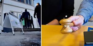 Den blev ingen husaffär den här gången heller. Banken sa nej till slutbudet vid tisdagens exekutiva auktion hos kronofogden i Gävle. Foto: Jenny Lundberg/Jörgen Svendsen.
