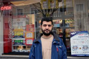 Mustafa Alkarseh har öppnat  en livsmedelsbutik i Vansbro.