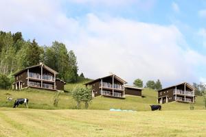 Projektbild som har tagits fram av Projekt Kaxås för att illustrera hur Ekobyn Ladriket kan komma att se ut. Bilden är hämtad från projektkaxas.se.