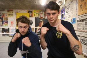 Hedesundasönerna, David och Victor Olsson får boxas på hemmaplan.