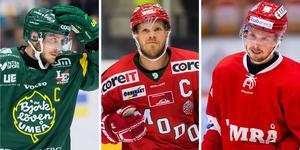 Fredric Andersson, Tobias Enström och Jonathan Dahlén. Tre spelare som säkerligen kommer att ha huvudroller när fajterna om Norrland avgörs i allsvenskan under säsongen. Andersson och Enström är först att göra upp, på måndagen. Bild: Bildbyrån