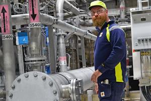 Wictor Bergqvist stortrivs på jobbet på Stora Enso Fors Bruk.