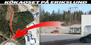 Här kommer ansluter Kofotsgatan till Krankroksgatan. Foto: Satellitbild/Yngve Fredriksson. Montage: Terese Westberg Sunesson