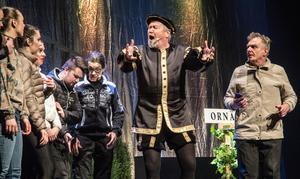 Gustav Vasas monolog direktöversätts för amerikanska turister med hjälp av google, kungens efternamn blir