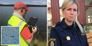 Polisens insatschef Annie Åkerlund.  Fotomontage: Olof Sjödin/Johanna Gadd