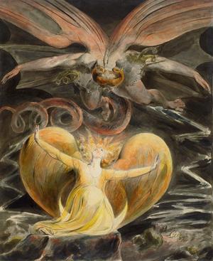 Illustration av Uppenbarelseboken av William Blake från 1810.