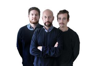 Magnus Sundvall, Peter Wilsson och Erik Boström med ett nytt avsnitt av 036fotboll.