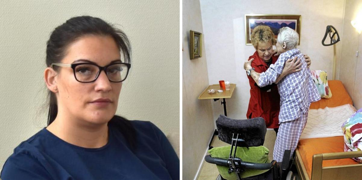 """Veronica tvingas gå ner i arbetstid när Tiohundra skär ner på hemtjänsten: """"Vissa kolleger har inte råd att stanna kvar"""""""