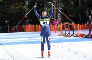 Alva Sköld har staplat segrarna på hög de senaste säsongerna. Förra helgen i Idre kom ytterligare en. Bilden är från tävlingar i Hede förra säsongen.