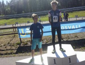 Jimmy Johansson, Forsa OK, fick klättra högst upp på prispallen efter sitt SM-guld.