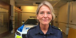 Inre polisbefäl Terese Heidenborg tog hand om vittnet som kom in till polisen med en film på buskörningen.