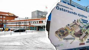 Mora lasarett och Östersunds sjukhus. Bilden är ett montage.