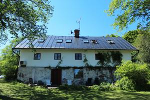Den gamla stålugnen sedd från sjön Grycken.