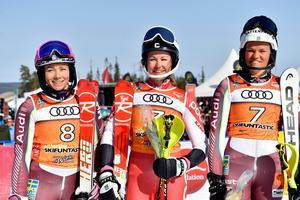 Top-tre, Frida Hansdotter, Charlotta Säfvenberg och Anna Swenn Larsson
