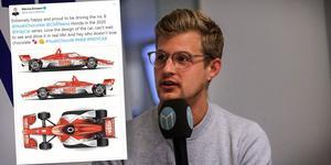 Marcus Ericsson visar upp bilen inför kommande säsong.