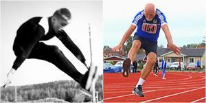 Två längdhopp med över 50 års mellanrum.