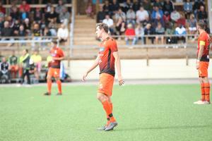 Thomas Moore var en av Ytterhogdals målskyttar i matchen. Bild: Samuel Hallin.