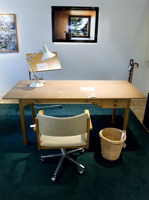 Bergmans arbetsplats. Skrivbordet heter