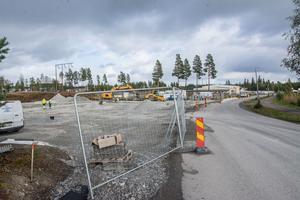 Här i Torvalla byggs länets första gasstation för flytande gas.