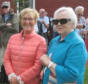 Kerstin Larsson och Margona Åkermo som fyllt 80 år gratulerades. Foto: Bengt Landervik