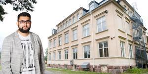 Mannen som hjälpte till att etablera Nya Kastets skola, Abdel-Nasser el Nadi, har placerats i Migrationsverkets förvar.