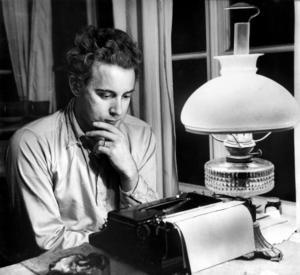 1950.Werner Aspenström, författare.Foto: TT