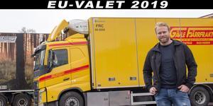 Joakim Tuvér, vd och ägare i Gävle Fjärrfrakt, hoppas att nya EU-regler ska höja de utländska chaufförernas löner.