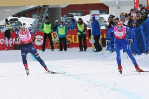 Ida Ingemarsdotter och Stina Nilsson i semifinalen som Stina vann.