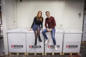 27-åriga Anne-Sophie Bach och 28-årige Thibault Vendioux är sedan september nya ägare av skoföretaget Polyver Boots i Pilgrimstad.