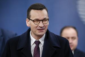 Polens premiärminister Mateusz Morawiecki. Arkivfoto.