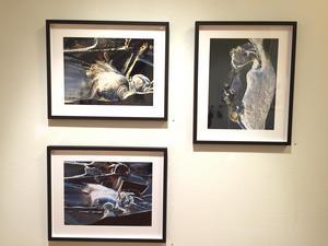 Tre verk utan titel av Tarja Hutunen.