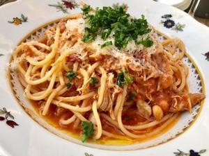 Spagetti med tupp.Foto: Lunchkollen
