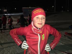 Wilma Helmersson, Svegs IK, tävlar i Damer 12-13.