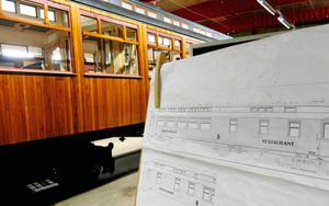 Restaurangvagnen från 1927 rekonstrueras och ska bli en attraktion när museet öppnar igen.