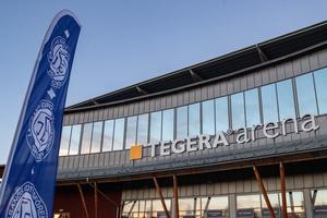 Leksands IF lägger bland annat om golvet i Tegera Arena och köper in ett nytt ljussystem inför nästa säsong. Foto: Daniel Eriksson