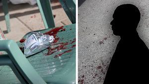 Den knivhuggne mannens liv räddades av några vänner på en altan i närheten av parkeringen.