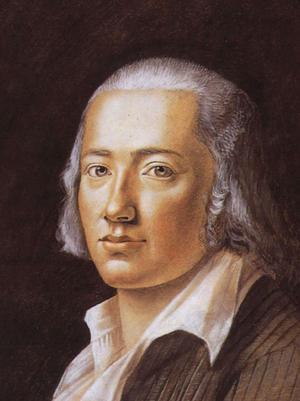 Friedrich Hölderlin. Målning av Franz Karl Hiemer från 1792.