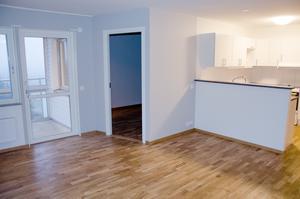 En bild från en av de efterfrågade tvårumslägenheterna.  Mycket är öppet vad gäller planlösningarna på Byhöjden.