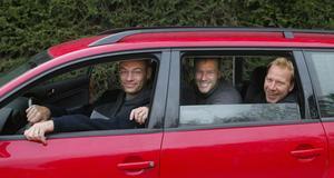 Popovic, Rohlin och Zetterberg under en av alla bilresor.