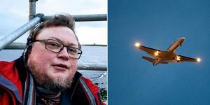 Klimatforskaren Douglas Nilsson tror att charterresor med flyg kommer att ses som en historisk underlighet i framtiden. Bild: Privat/Janerik Henriksson/TT