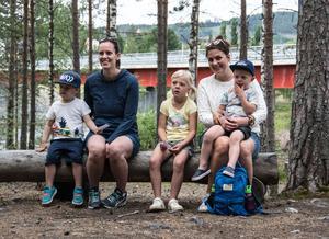 Vilgot Westerlund, Emelie Bäckman, Mira Mohlin, Melker Mohlin och Jennifer Pallin såg fram emot dagens äventyr i Mulleriket.